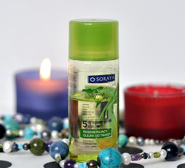 Uroda 40 plus - Soraya Świat Natury Regenerujący olejek do twarzy - 5 drogocennych olejów