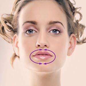 Uroda 40 plus - Jak nakładać krem - usta