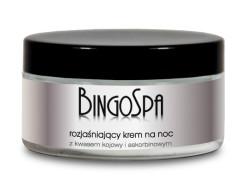 Uroda 40 plus - Bingospa - rozjaśniający krem na noc - z kwasem kojowym i askorbinowym 100 g - 34 zł